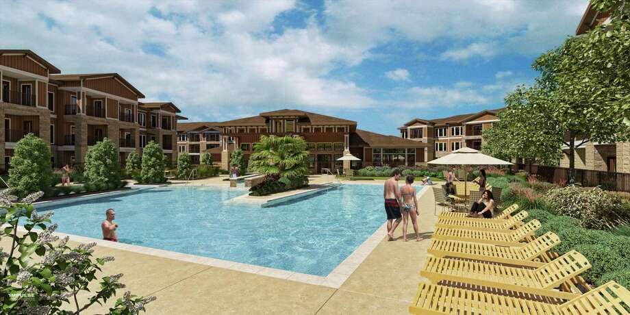 Austin-based Oden Hughes recently broke ground on the 354-unit Parkside Grand Parkway in Katy. It is being built at the southwest corner of Katy Fort Bend Road and the Grand Parkway. Photo: Courtesy Rendering