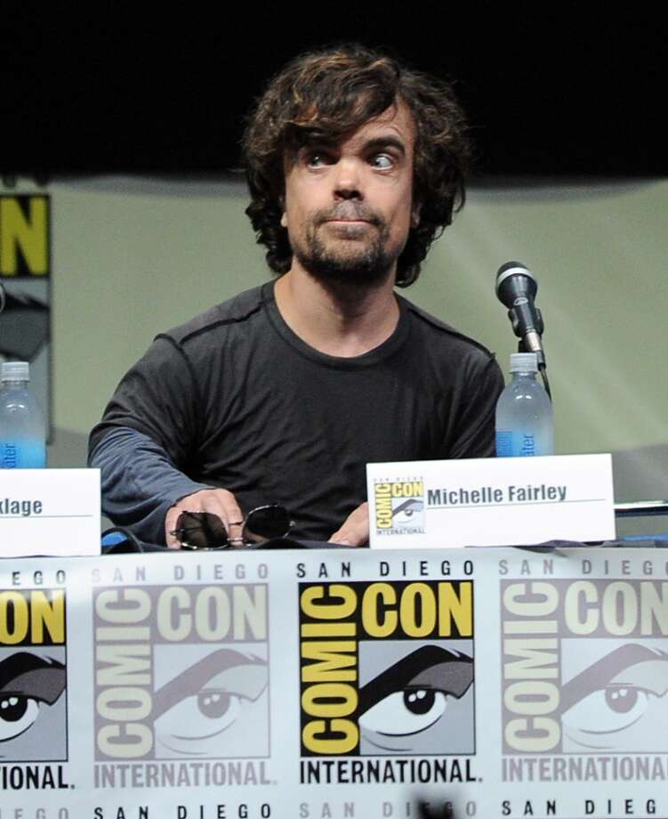 "Actor Peter Dinklage speaks onstage during the ""Game Of Thrones"" panel during Comic-Con International 2013 at San Diego Convention Center on July 19, 2013 in San Diego, California.  (Photo by Kevin Winter/Getty Images)"