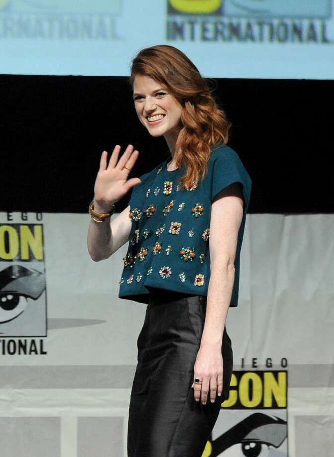 "Actress Rose Leslie  onstage during the ""Game Of Thrones"" panel during Comic-Con International 2013 at San Diego Convention Center on July 19, 2013 in San Diego, California.  (Photo by Kevin Winter/Getty Images)"