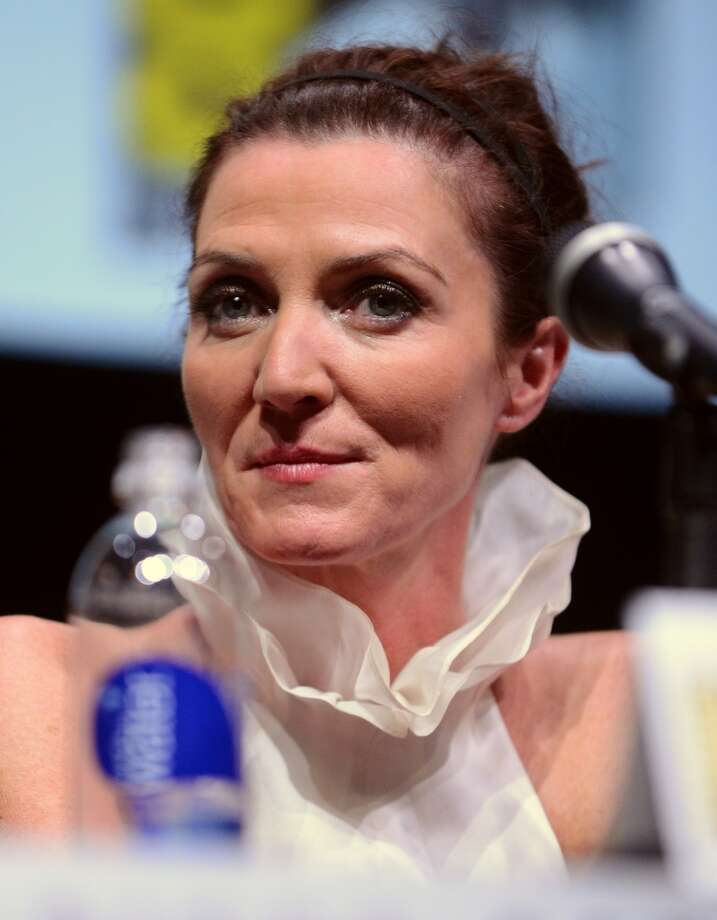 "Actress Michelle Fairley speaks onstage during the ""Game Of Thrones"" panel during Comic-Con International 2013 at San Diego Convention Center on July 19, 2013 in San Diego, California.  (Photo by Albert L. Ortega/Getty Images)"