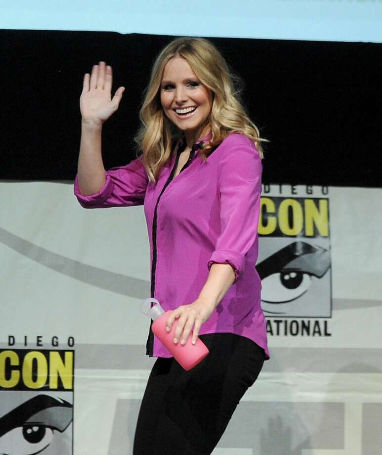 "Actress Kristen Bell speaks onstage at the ""Veronica Mars"" special video presentation and Q&A during Comic-Con International 2013 at San Diego Convention Center on July 19, 2013 in San Diego, California.  (Photo by Kevin Winter/Getty Images)"