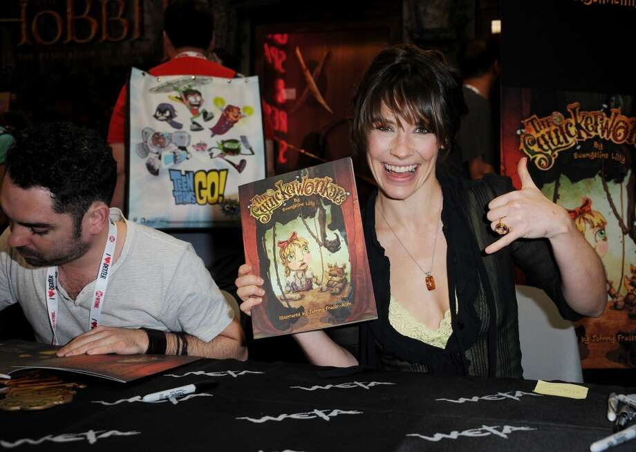 Actress Evangeline Lilly during Comic-Con International at San Diego Convention Center on July 19, 2013 in San Diego, California.  (Photo by Albert L. Ortega/Getty Images)