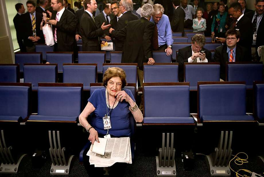 Helen Thomas had a front-row seat in the White House briefing room for many years. Photo: Chip Somodevilla, Getty Images