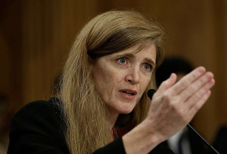 WASHINGTON, DC - JULY 17:  Samantha Power, the nominee to be the U.S. representative to the United Nations, testifies before the Senate Foreign Relations Committee July 17, 2013 in Washington, DC. Power has received broad bipartisan support for her nomination.  (Photo by Win McNamee/Getty Images) Photo: Win McNamee, Getty Images