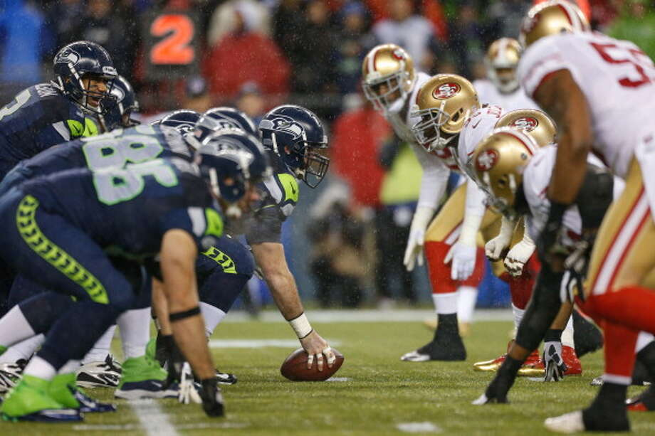 Week 2: San Francisco 49ers at SeahawksSept. 15 | 5:30 p.m. | CenturyLink Field | TV: NBC  Average resale ticket price (VividSeats.com): $418  Last they met in Seattle: The red-hot Seahawks clobbered the Niners 42-13 in Week 16 last season in Seattle. QB Russell Wilson was 15-of-21 for 171 yards, four TDs and one interception; RB Marshawn Lynch ran for 111 yards and a TD on 26 carries; and CB Richard Sherman took a blocked field goal 90 yards to the end zone as Seattle made the Super Bowl-bound 49ers look silly. With both teams on the Super Bowl hunt in 2013, their Week 2 matchup is one of the most anticipated games of the season -- in the entire NFL.  Photo: Otto Greule Jr, Getty Images / 2012 Getty Images