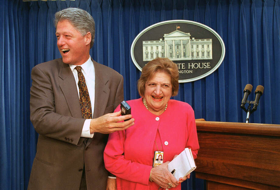 Helen Thomas, 1920-2013:The long-time White House correspondent and the first female member of the White House Correspondents' Association died at the age of 92 on July 20. Photo: Greg Gibson, Associated Press / AP