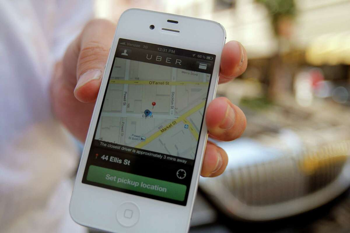 Uber's smartphone app helps connect users seeking a ride with the closest available drivers.