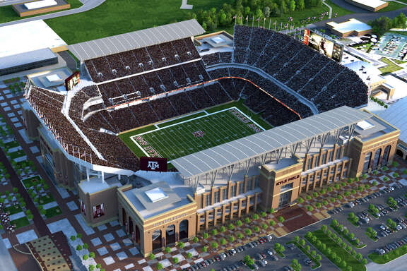 A rendering of 102,500-seat Kyle Field after its $450 million renovation is completed.