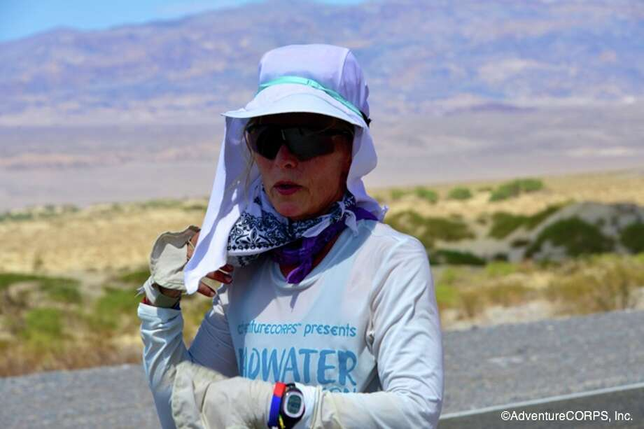Kimberlie Budzik required almost 47 hours to complete the grueling Badwater Ultramarathon. Photo: AdventureCORPS, Inc.