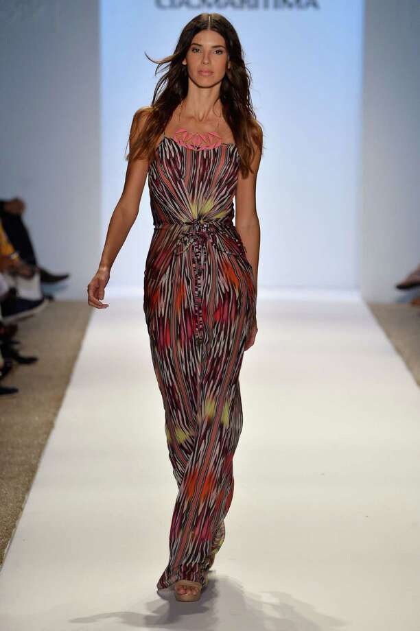 A model walks the runway at the CM Cia.Maritima show. Photo: Frazer Harrison, Getty Images For Mercedes-Benz / 2013 Getty Images