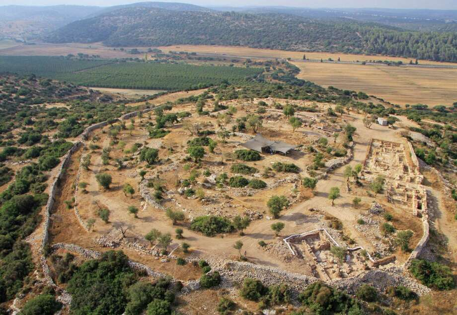 This undated aerial photo released by the  Israel Antiquities  Authority shows the archeological site in Khirbet Qeiyafa, west of Jerusalem. A team of Israeli archaeologists say they have discovered a palace used by King David at the site, a historic discovery that was quickly disputed by other members of the country's archaeological community. Photo: AP