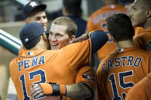 July 19: Mariners 10, Astros 7 Brandon Barnes' cycle overshadowed the loss as he completed the 8th cycle in franchise history in the losing effort in the first game back from the All-Star break.  Record: 33-62. Photo: Smiley N. Pool, Houston Chronicle