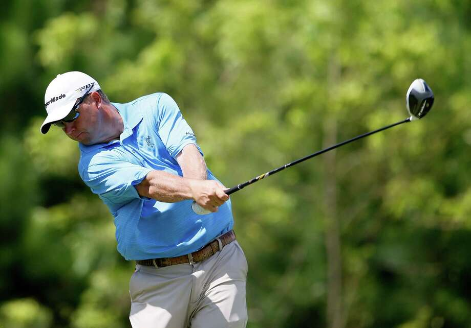 MADISON, MS - JULY 21:  Cameron Beckman tees off the fifth hole during the final round of the Sanderson Farms Championship at Annandale Golf Club on July 21, 2013 in Madison, Mississippi. Photo: Kevin C. Cox, Getty Images / 2013 Getty Images