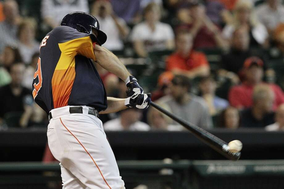 July 21: Mariners 12, Astros 5 Brett Wallace of the Astros tries to get a hit against the Mariners.