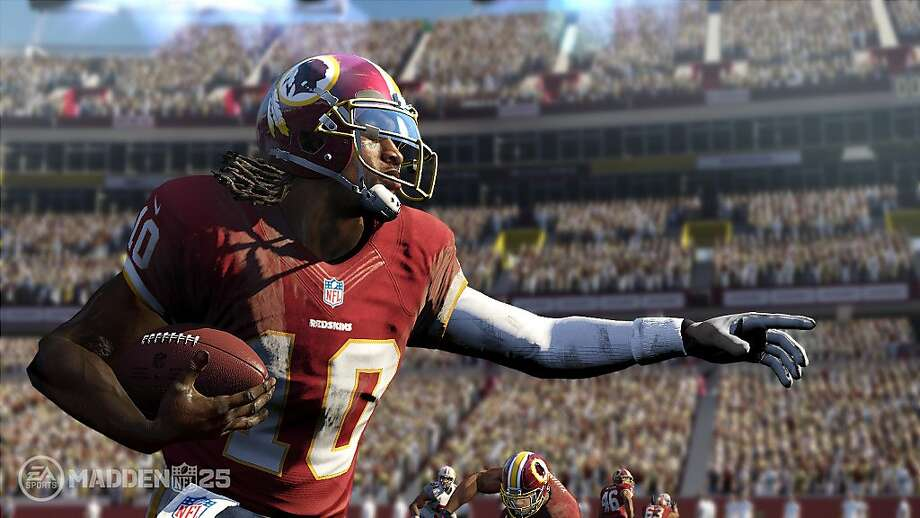 "A screenshot from the upcoming ""Madden NFL 25."" Electronic Arts has released the game every year since 1990."