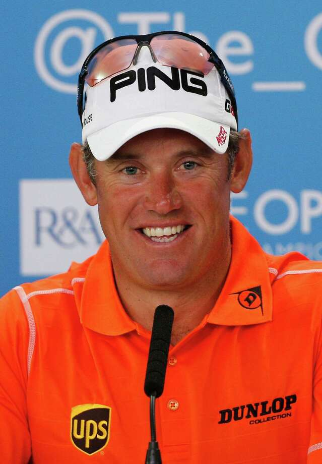 GULLANE, SCOTLAND - JULY 20:  Lee Westwood of England speaks at a press conference during the third round of the 142nd Open Championship at Muirfield on July 20, 2013 in Gullane, Scotland.  (Photo by Rob Carr/Getty Images) Photo: Rob Carr, Staff / 2013 Getty Images