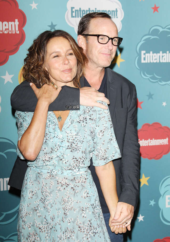 Jennifer Grey (L) and Clark Gregg arrive at the Entertainment Weekly's Annual Comic-Con celebration held at Float at Hard Rock Hotel San Diego on July 20, 2013 in San Diego. Photo: Michael Tran, FilmMagic / Getty Images