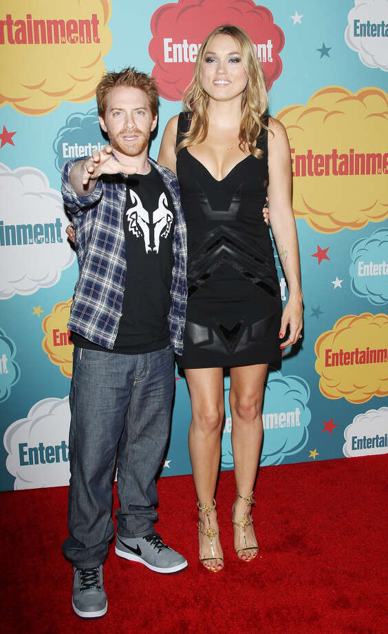 Seth Green (L) and Clare Grant arrive at the Entertainment Weekly's Annual Comic-Con celebration held at Float at Hard Rock Hotel San Diego on July 20, 2013 in San Diego. Photo: Michael Tran, FilmMagic / Getty Images