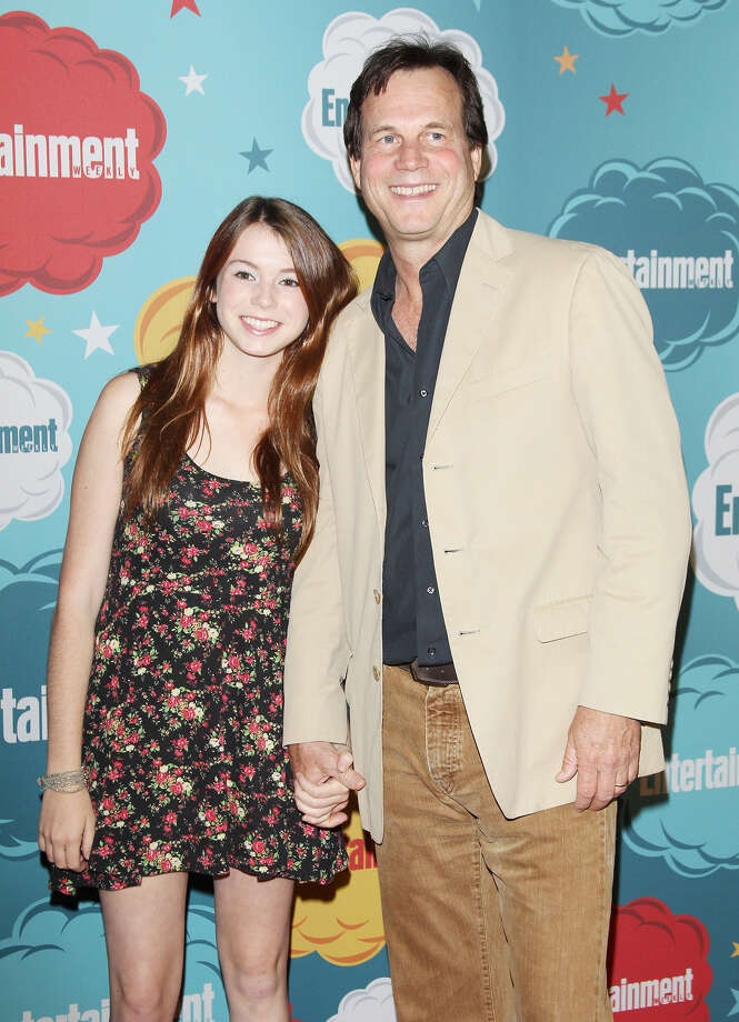 Bill Paxton (R) and daughter arrive at the Entertainment Weekly's Annual Comic-Con celebration held at Float at Hard Rock Hotel San Diego on July 20, 2013 in San Diego. Photo: Michael Tran, FilmMagic / Getty Images