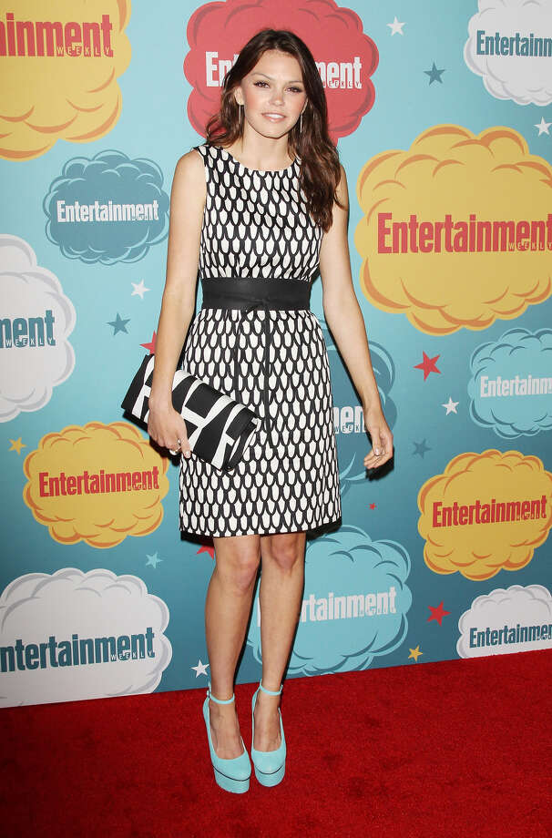 Aimee Teegarden arrives at the Entertainment Weekly's Annual Comic-Con celebration held at Float at Hard Rock Hotel San Diego on July 20, 2013 in San Diego. Photo: Michael Tran, FilmMagic / Getty Images