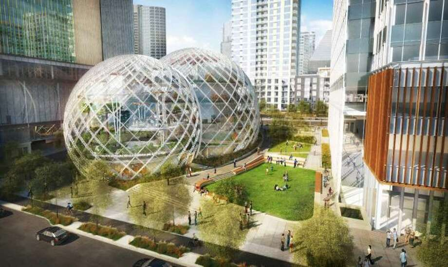 In May, Amazon proposed three bubbles (biospheres) for its new South Lake Union campus, to give 