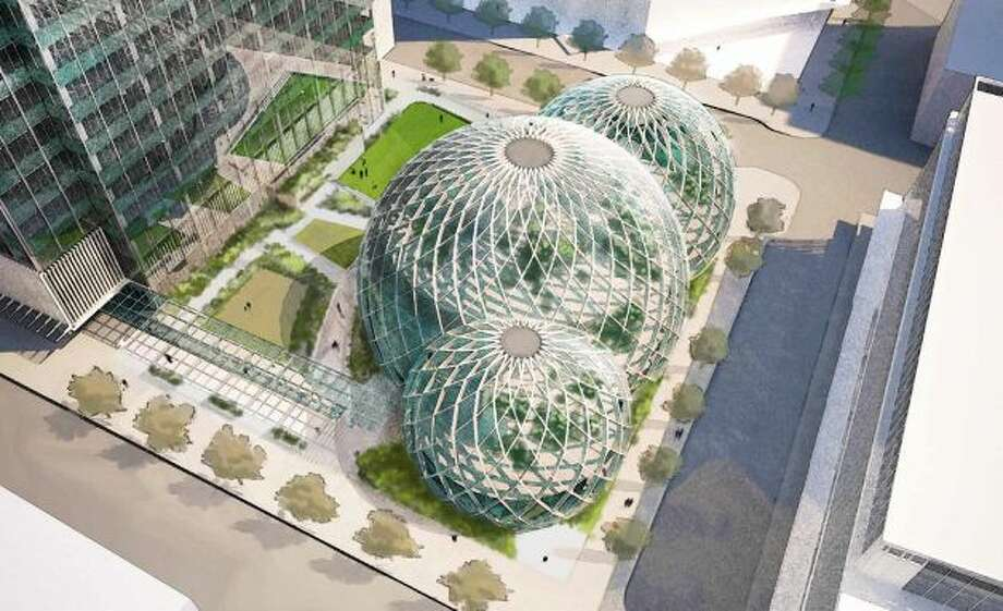 Another look at Amazon's proposed greenhouse-like biospheres.