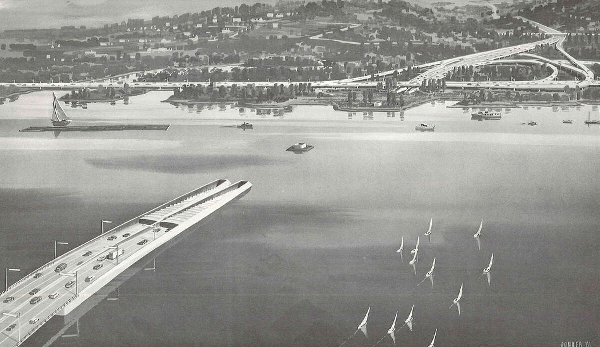 Proposed in 1961, it was part of the RH Thomson Expressway which was never built.  This view looking south from Laurelhurst.
