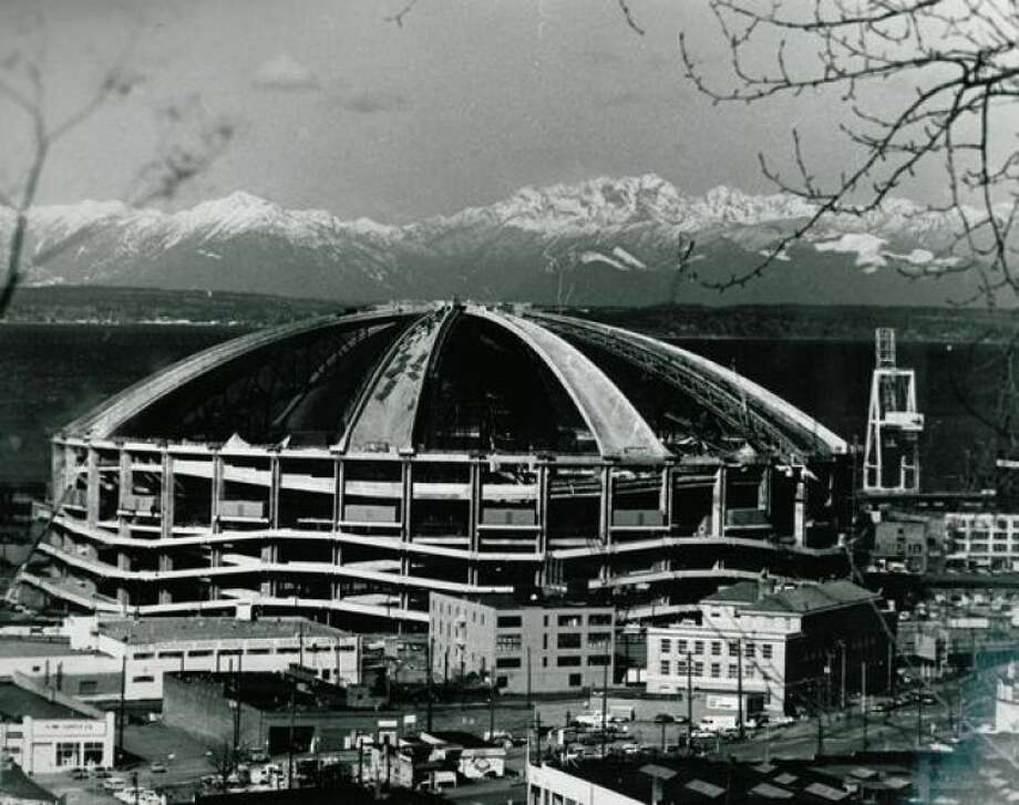 ... Kingdome in 1976. (Construction photo from 1975). Photo: P-I File