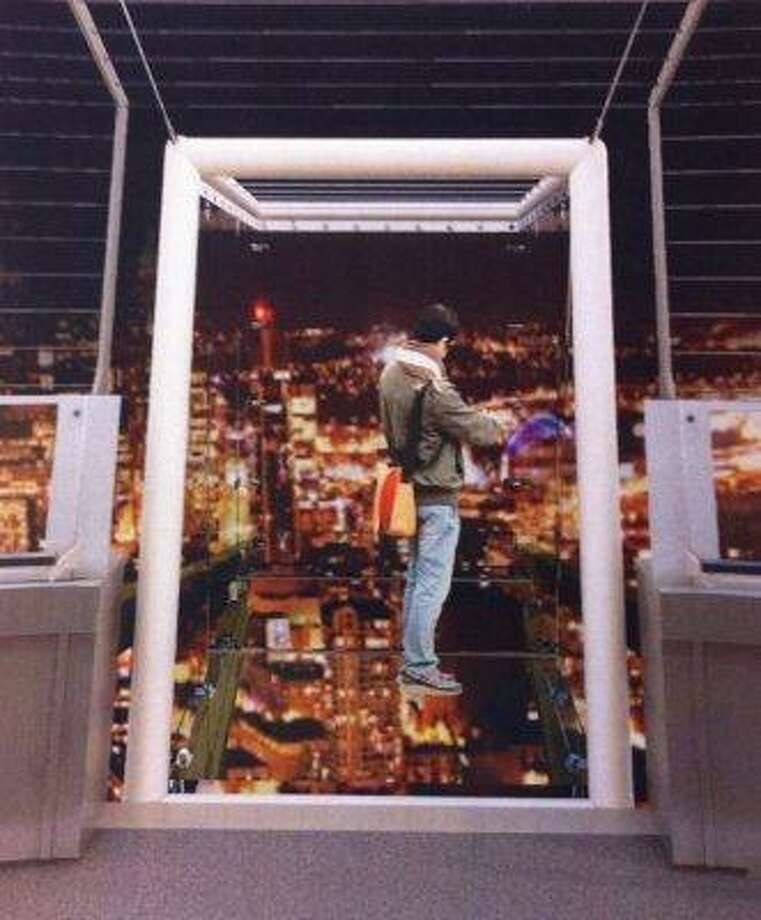 Another view of last year's proposal for sky-high viewing cubes in the Space Needle's crown.