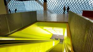 The interior of Seattle's Central Library is as stunning and weird as its exterior.