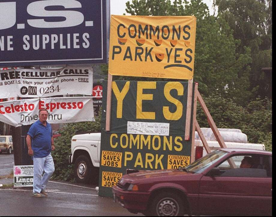 Before Vulcan and Amazon transformed South Lake Union with offices and condos, there was Paul Allen's vision in '90s of a giant urban park called the ''Seattle Commons.'' Supporters dreamed of NYC's Central Park in Seattle; opponents worried Allen would just get richer.