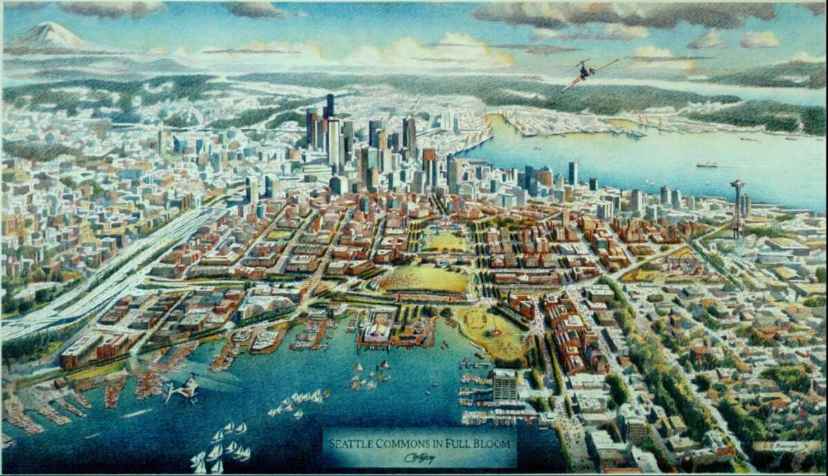 What South Lake Union would have looked like if voters had approved the Seattle Commons.