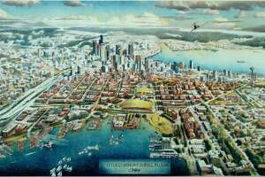 What South Lake Union might have looked like had voters approved Seattle Commons. Instead, they killed it twice, the last time in 1996.   (Image is from 1995).