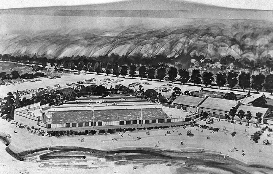 A 1960 proposal for a swimming pool at Golden Gardens. Would have been cool. Photo: Seattle Municipal Archives, Flickr