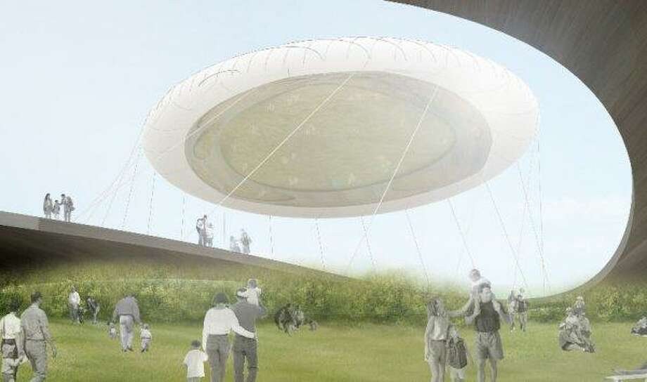 Seattle Center jelly bean: This concept emerged in a 2012 contest for dreamy ideas for when Memorial Stadium is demolished. The floating ''jelly bean'' was envisioned as a cloud that manufactures fog, rain, shade and light. It didn't win.