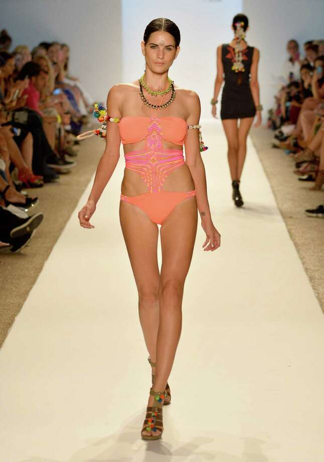 MIAMI BEACH, FL - JULY 20:  A model walks the runway at the Mara Hoffman Swim show during Mercedes-Benz Fashion Week Swim 2014 at the Raleigh on July 20, 2013 in Miami Beach, Florida. Photo: Frazer Harrison, Getty Images For Mercedes-Benz / 2013 Getty Images