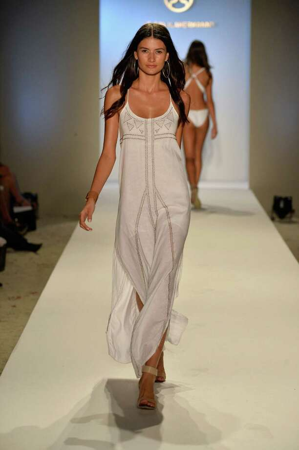 A model walks the runway at the ViX Paula Hermanny show. Photo: Frazer Harrison, Getty Images For Mercedes-Benz / 2013 Getty Images