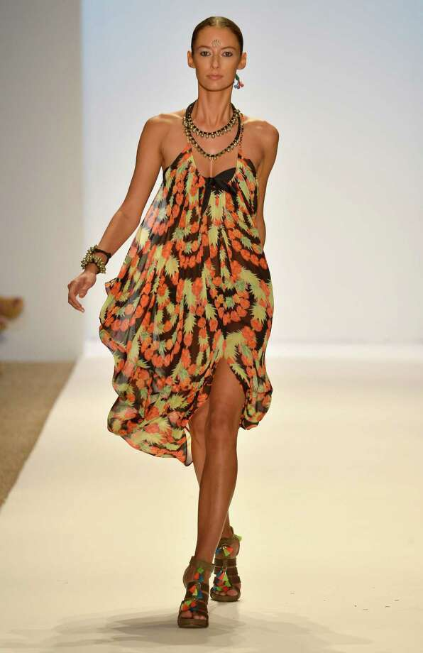 A model walks the runway at the Mara Hoffman Swim show. Photo: Frazer Harrison, Getty Images For Mercedes-Benz / 2013 Getty Images