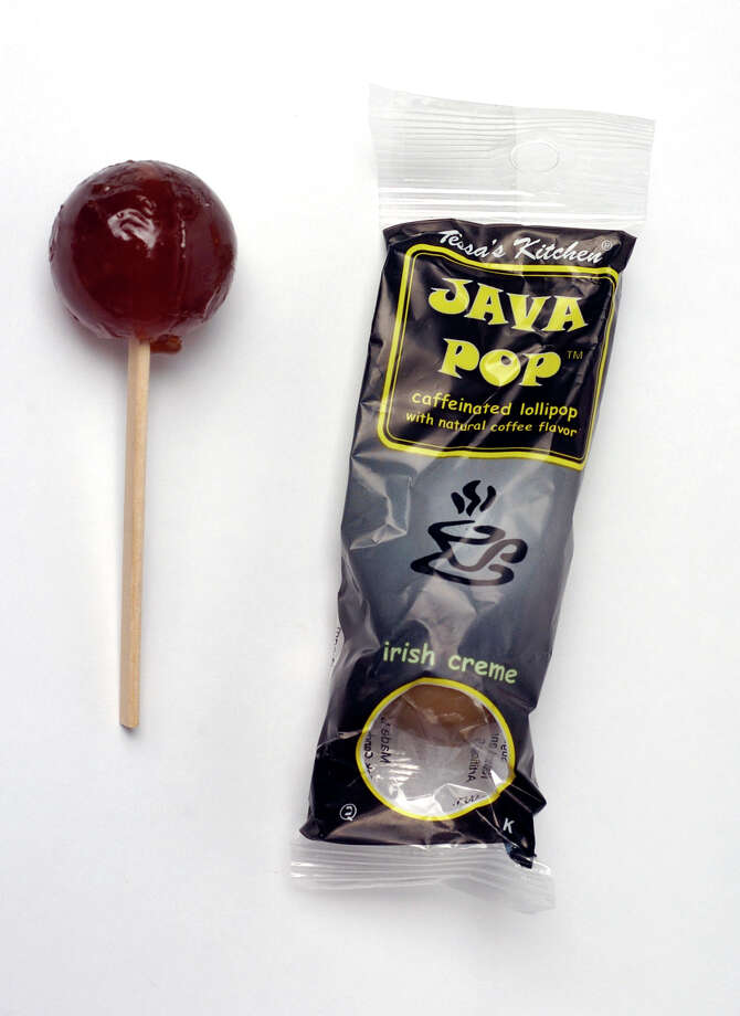 One of these caffeinated Java Pops contains about as much caffeine as half of a cup of coffee.  Photo: JUANITO GARZA, SAN ANTONIO EXPRESS-NEWS / SAN ANTONIO EXPRESS-NEWS