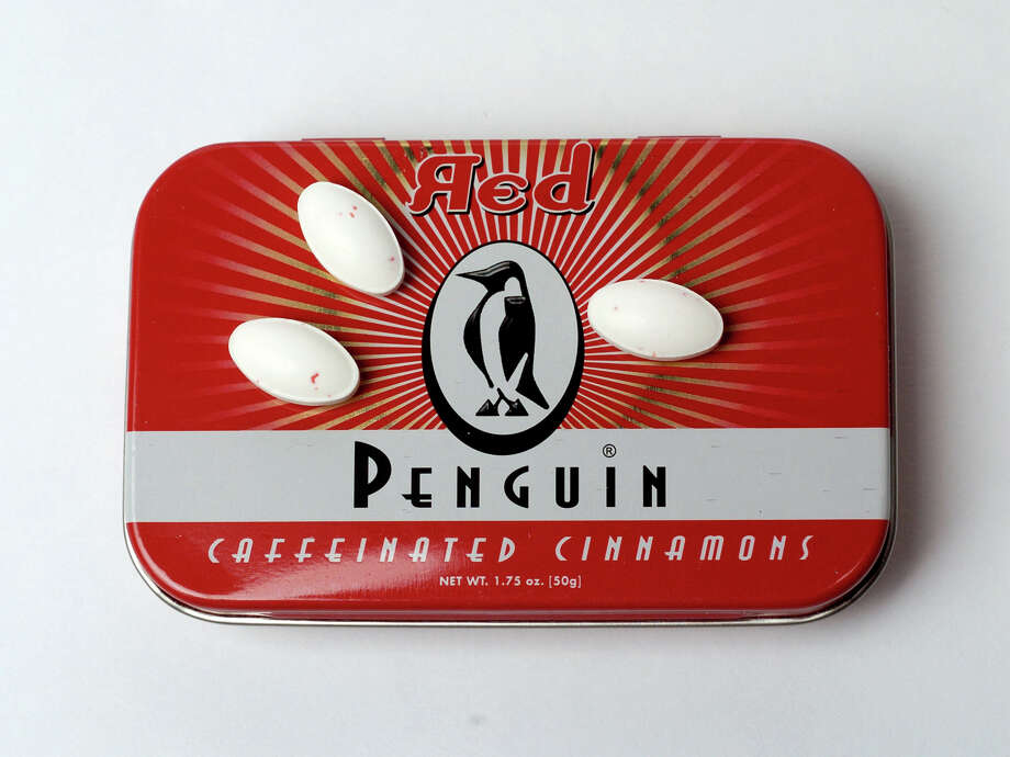 Three Penguin Caffeinated Cinnamons mints have the caffeine equivalent to a 12 oz can of soda. Photo: JUANITO GARZA, SAN ANTONIO EXPRESS-NEWS / SAN ANTONIO EXPRESS-NEWS