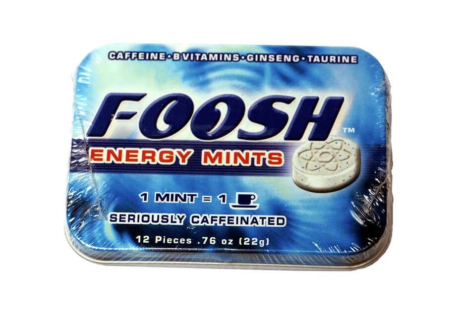 Foosh Energy Mints can give a sudden burst of energy, with one mint containing as much caffeine as a cup of coffee.  Photo: JUANITO GARZA, SAN ANTONIO EXPRESS-NEWS / SAN ANTONIO EXPRESS-NEWS