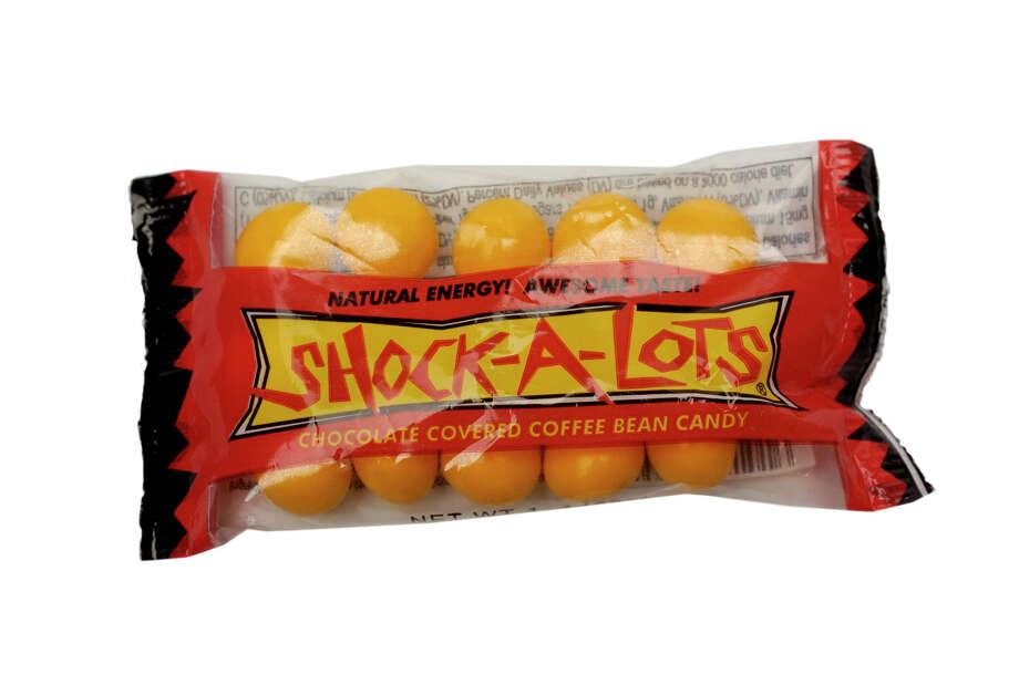 Shock-a-Lotschocolate coffee beans contain 20 mg of caffeine per bean.  Photo: JUANITO GARZA, SAN ANTONIO EXPRESS-NEWS / SAN ANTONIO EXPRESS-NEWS
