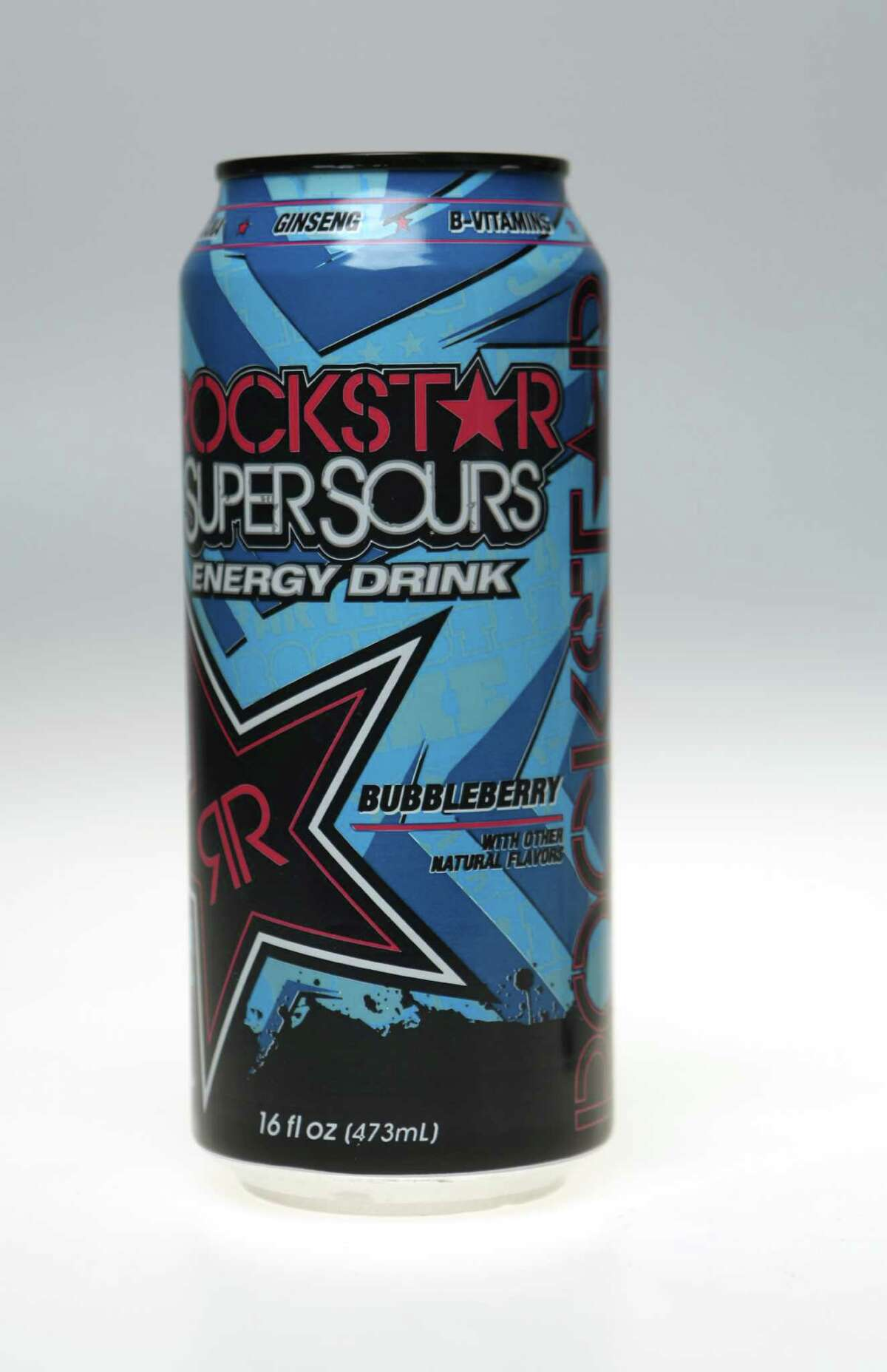 Energy drinks are a well-known product for people seeking an energy boost. Regular Rockstar drinks have 160 mg of caffeine per can, but products like the Rockstar Super Sours amp it up to 240 mg per can.
