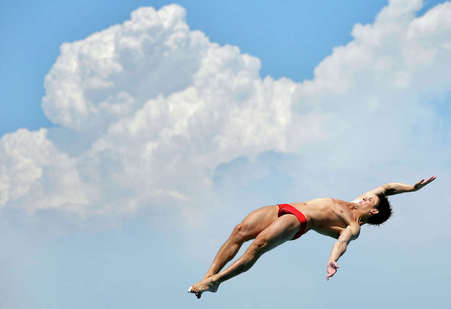 Illya Kvasha of Ukraine competes in the Men's 1m Springboard Diving final on day three of the 15th FINA World Championships at Piscina Municipal de Montjuic on July 22, 2013 in Barcelona. Photo: Adam Pretty, Getty Images / 2013 Getty Images