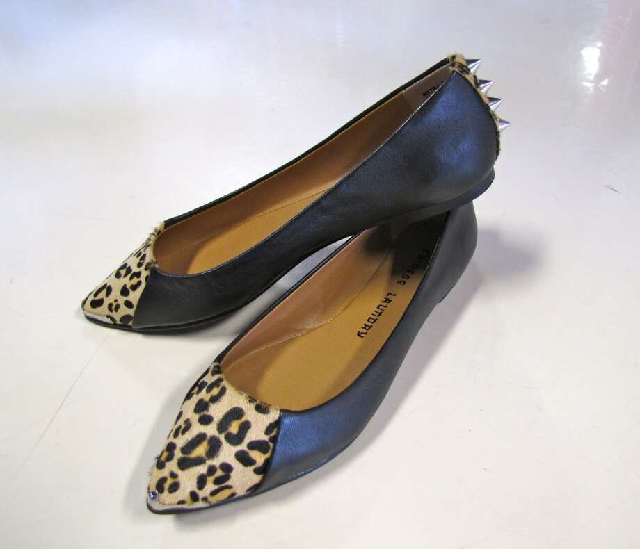Studded leather flats, The Classy Peacock, Nederland, $88.95