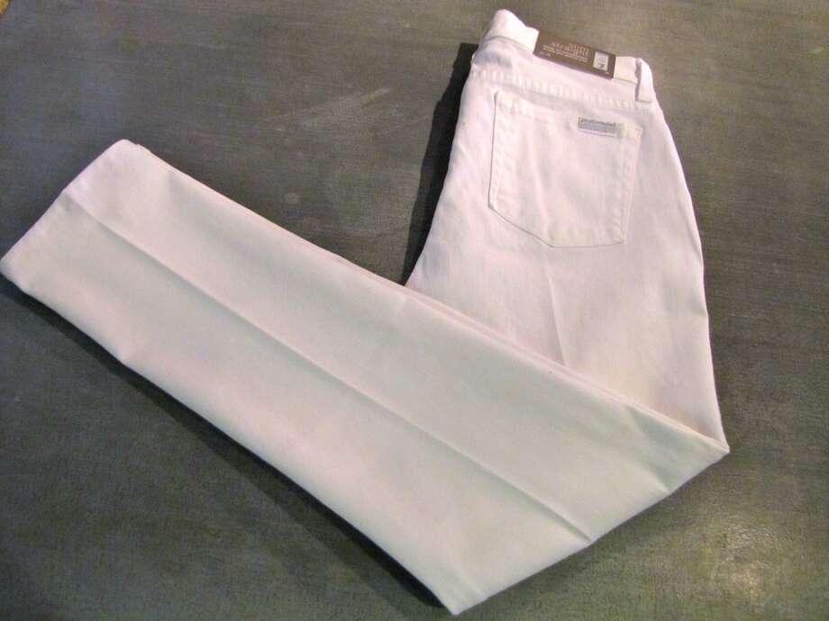 Slim cigarette jeans, 7 For All Mankind, Splash of Karma, Nederland, $85