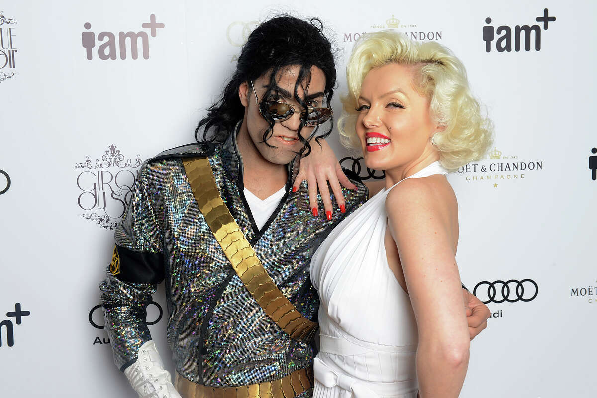 Fake Michael Jackson and fake Marilyn Monroe.