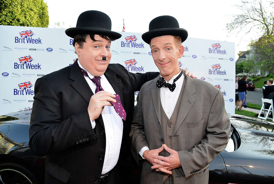 Fake Laurel and Hardy. Photo: Frazer Harrison / 2013 Getty Images