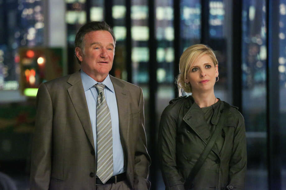 The comically frenetic Robin Williams is sure to entertain at 'The Crazy Ones' session with co-star Sarah Michelle Gellar. Photo: Richard Cartwright, CBS / �©2013 CBS Broadcasting, Inc. All Rights Reserved.