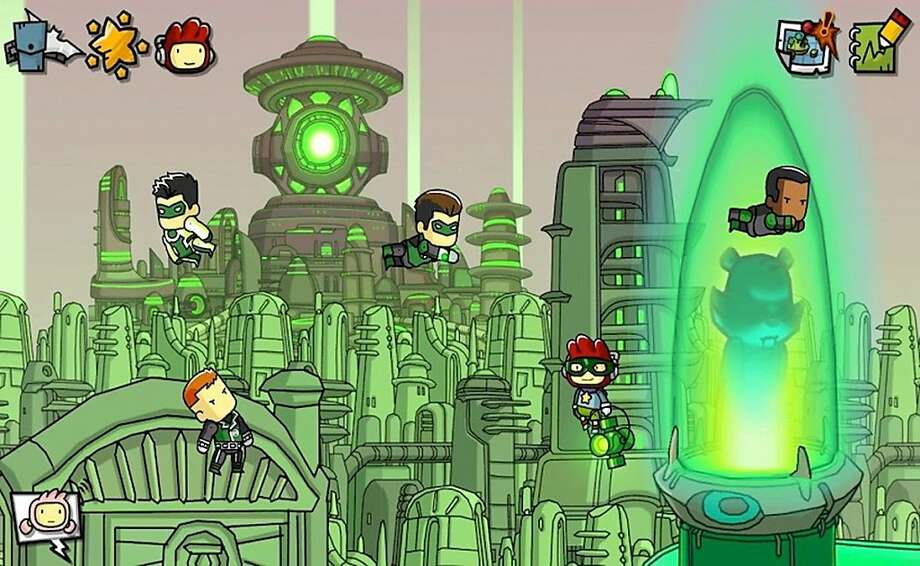 "Summon Green Lanterns - and any other DC hero or villain you can think of - in ""Scribblenauts."" Photo: Warner Bros. Interactive"